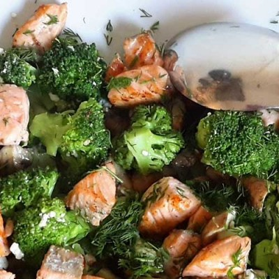 Zalm-broccolischotel (atkins)